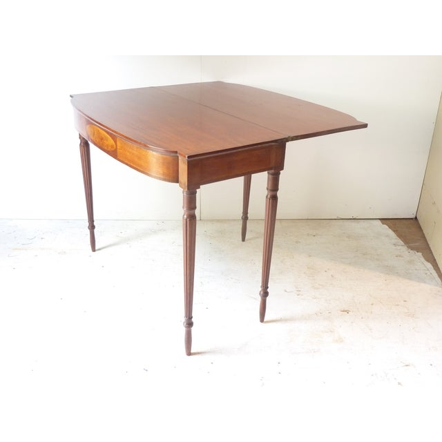 19th Century Early American Mahogany Demi-Lune Card Table For Sale In Portland, ME - Image 6 of 8