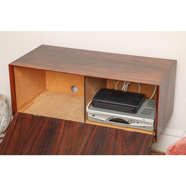 Italian Italian Mid Century Wood Bar/Media Cabinet For Sale - Image 3 of 11