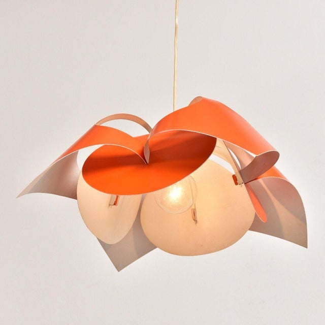 1950s Verner Panton Orange Lamp For Sale - Image 5 of 7