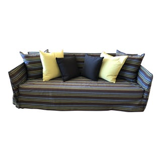 Contemporary Gervasoni Steel and Wood Ghost Sofa