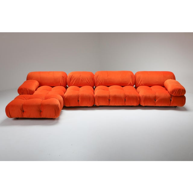 Postmodern 1970s Camaleonda Sectional Sofa in Bright Orange For Sale - Image 3 of 9