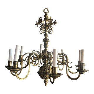 19th C. Bronze Chandelier