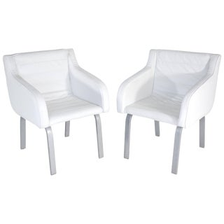 French Pair of Christian Biecher Armchairs for Poltrona Frau, 1990s For Sale