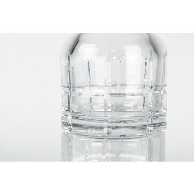 Contemporary Cut Crystal Three Pieces Drinks Decanter For Sale - Image 3 of 10