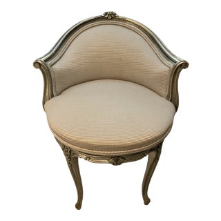 Painted Louis XV Style Swivel Chair For Sale