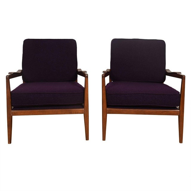 Edmond Spence Mid-Century Modern Walnut Club Chairs - a Pair For Sale - Image 13 of 13