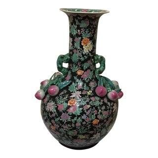 Massive Famille Noire Palace Size Vase