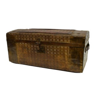 Late 19th Century Antique American Travel Trunk Train Case For Sale