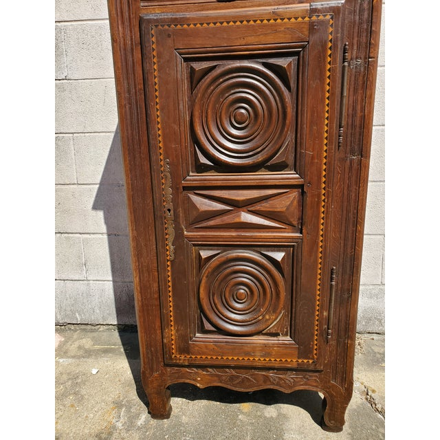 Wood Antique 19th Century Small Bonnetiere For Sale - Image 7 of 12