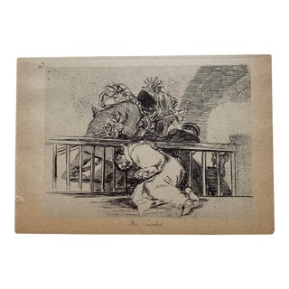 "Francisco Goya Plate # 47 ""Asi Sucedio"" (This Is How It Happened), From Desastres De La Guerra, Ca 1810 For Sale"