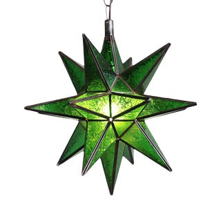 Moravian Green Star Lantern For Sale