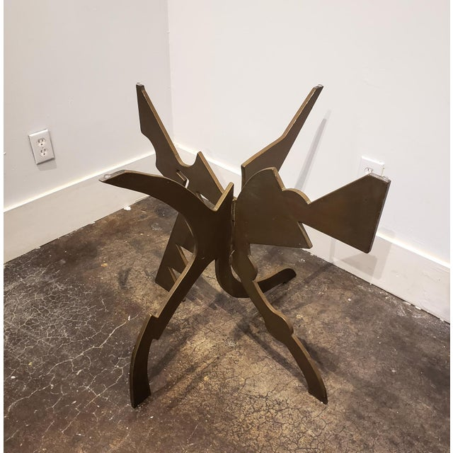1980s Brutalist Memphis Era Dining Table by Pucci De Rossi For Sale - Image 5 of 7