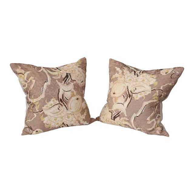 Pair of Silk Cushions For Sale In Houston - Image 6 of 6