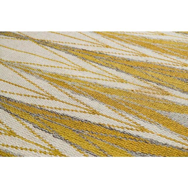 "Vintage Ingrid Dessau ""Sylarna"" Flat-Weave Swedish Carpet - Image 2 of 7"
