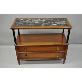 Maslow Freen French Empire Style Marble Top With Black Columns Servers - a Pair Preview