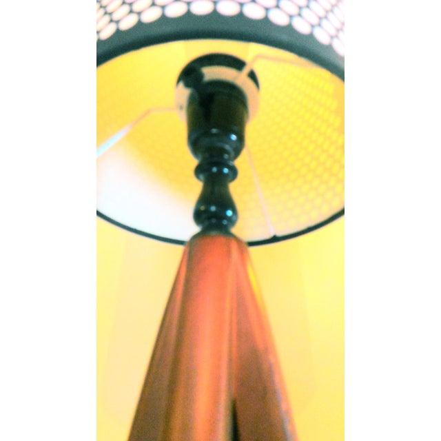 Mid-Century Modern Atomic Danish Wood Mini Lamp - Image 11 of 11