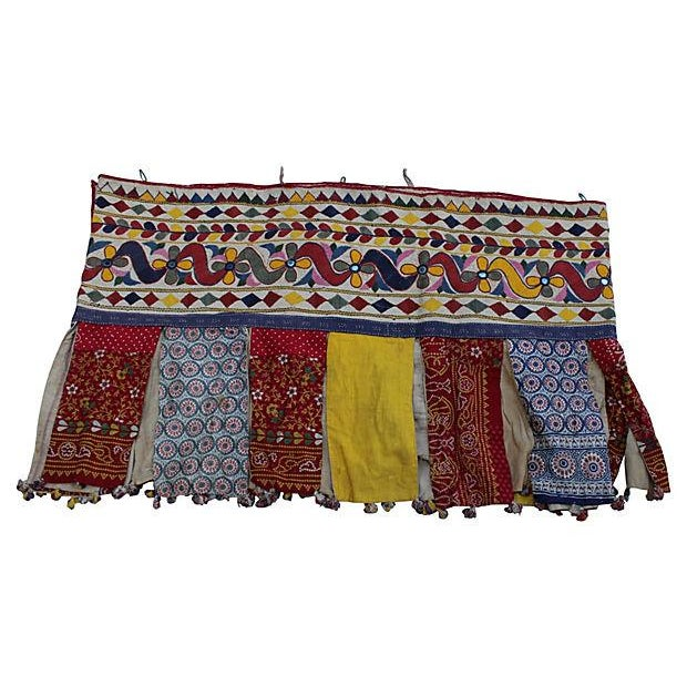 Embroidered Indian Tent Valance For Sale