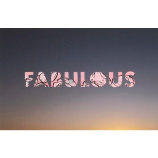 Fabulous (Prince) by Emily Hoerdemann, One Word Poem Collage Series For Sale