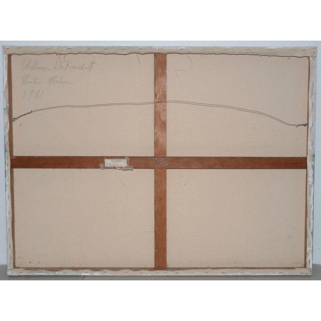 "William DeKoornbolt ""Wonton Malice"" Original Mixed Media Abstract Painting C.1981 For Sale - Image 9 of 11"