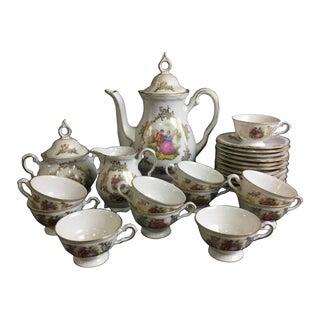 Bavaria Porcelain Demitasse Courting Couple Tea Set For Sale