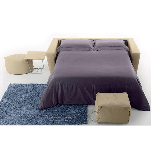 Capri Italian Leather Sleeper Sofa - Image 6 of 7