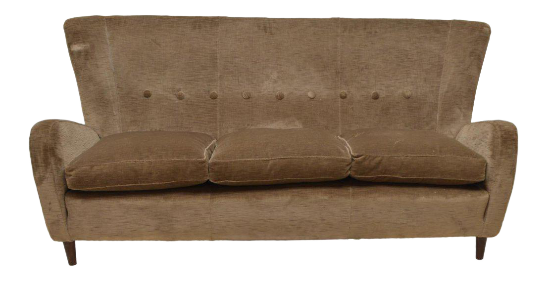 Paolo Buffa Italian Mid Century Modern Sofa, Circa 1950