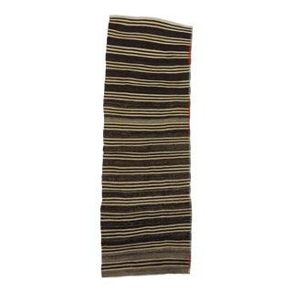 "Vintage Striped Kilim Runner Rug - 3'1"" x 9'3"""