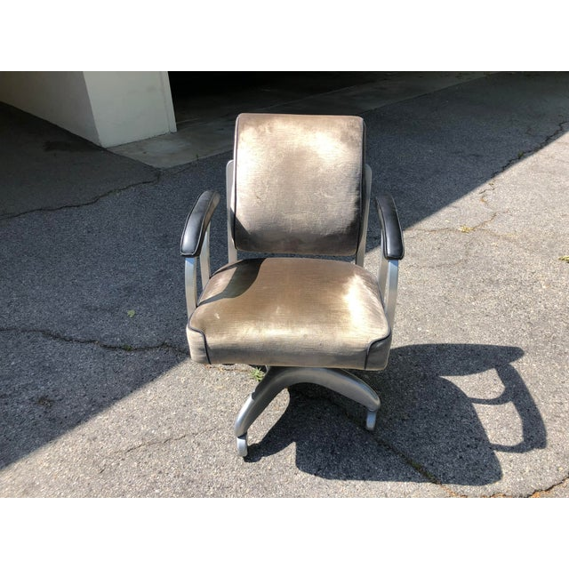 Metal 1950s Vintage Emeco Swivel Chair For Sale - Image 7 of 7