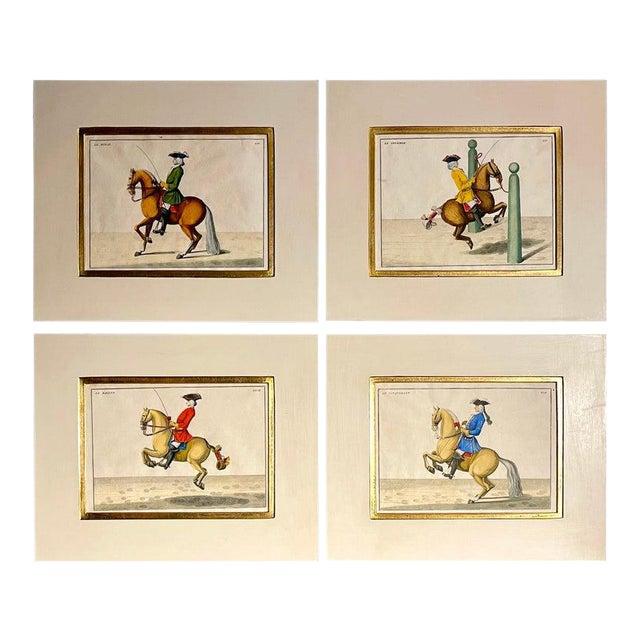 Four Engravings of Horse Riders Le Sensible, Le Royal, Le Conquerant, Le Ballon For Sale