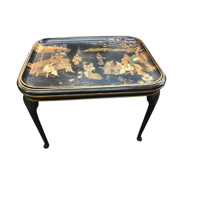 Wood 19th Century Chinoiserie Tea Table For Sale - Image 7 of 7
