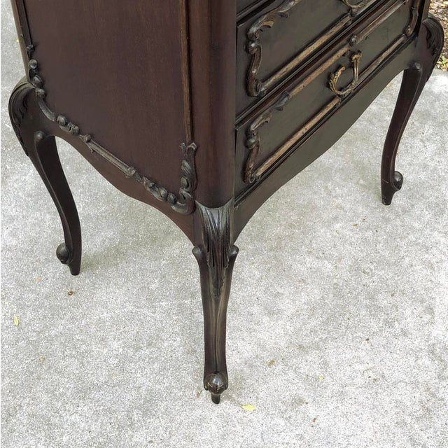 Antique French Walnut Louis XV Chiffoniere ~ File Cabinet For Sale - Image 10 of 13