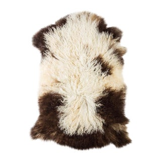 "Contemporary Natural Sheepskin Pelt -2'0""x3'2"" For Sale"