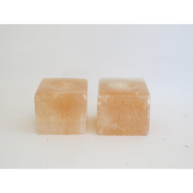 Pink Calcite Votive Candle Holders - A Pair - Image 3 of 7