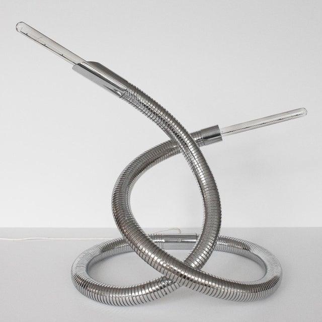 1960s Unique 1960s Italian Chrome Flexible Snake Lamp For Sale - Image 5 of 13