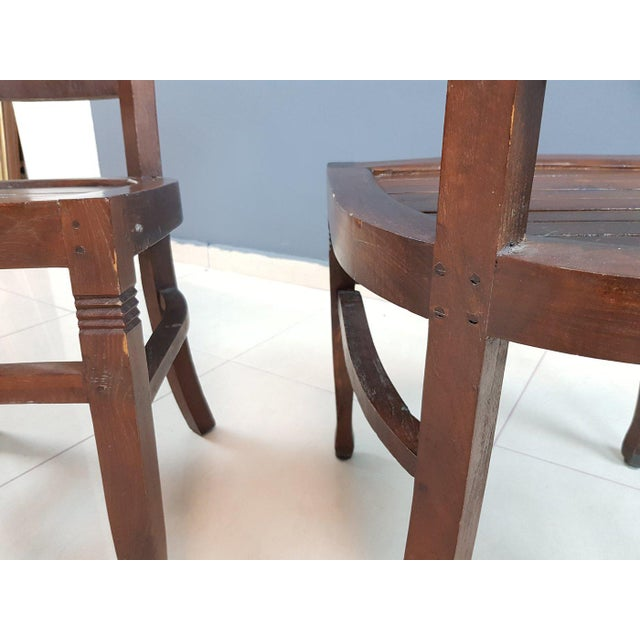 Vintage Wood Colonial Dining Set Table and 6 Chairs For Sale - Image 12 of 13