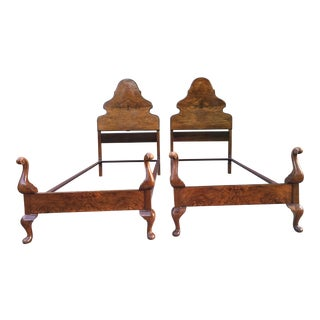 Antique Twin Bed Chestnut Frames - A Pair For Sale