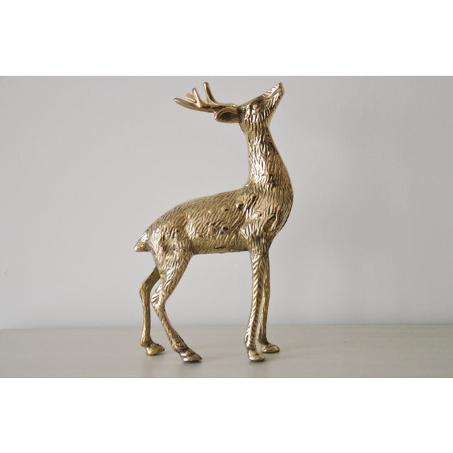 Solid Brass Reindeer - A Pair - Image 3 of 4