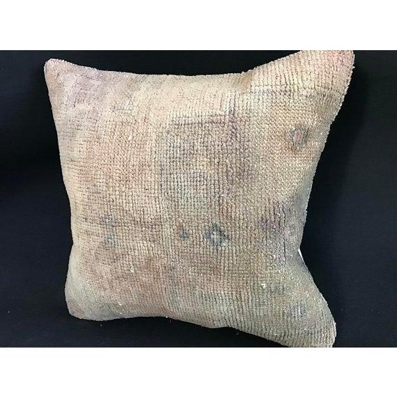 1960s Art Nouveau Handwoven Oushak Wool Pillow Case For Sale In Austin - Image 6 of 10
