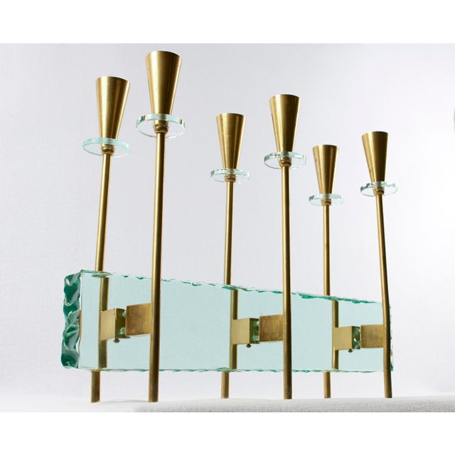 Fontana Arte Candelabrum by Max Ingrand, 1960's For Sale In Detroit - Image 6 of 11