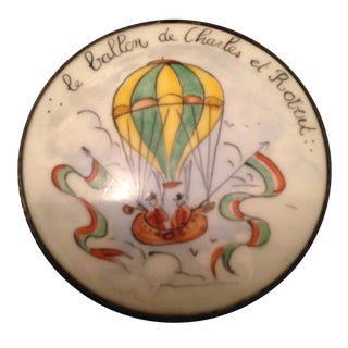Vintage Limoges Round Hot Air Balloon Box