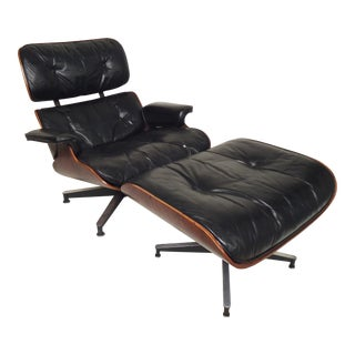 Classic Eames Chair and Ottoman for Herman Miller For Sale
