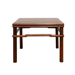 Chinese Handmade Vintage Finish Square Wood Top Stool Table