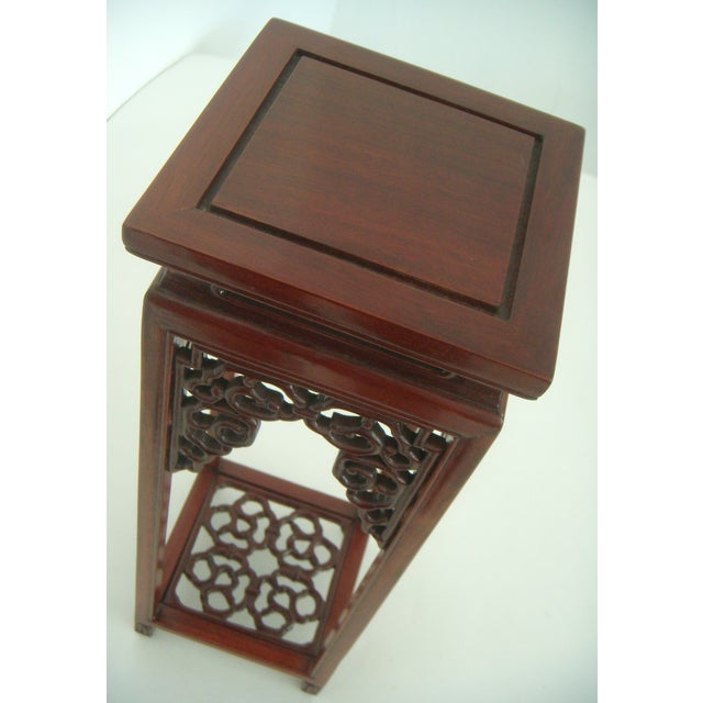 Ornate Vintage Chinese Rosewood Display Stand - Image 6 of 7