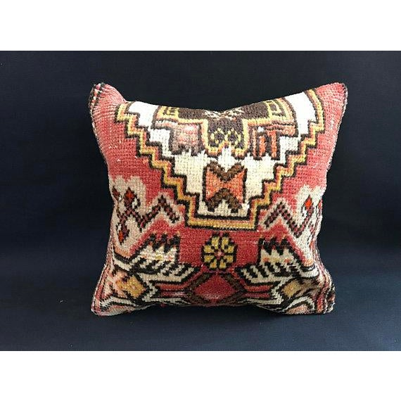 Red Decorative Vintage Antique Pillow Cover For Sale - Image 8 of 8