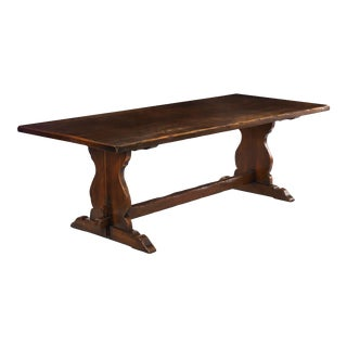 English Antique Oak Refectory Dining Table, Seats 8 For Sale
