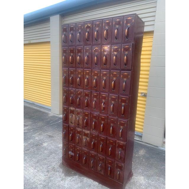Metal Vintage Industrial File Cabinet For Sale - Image 7 of 13