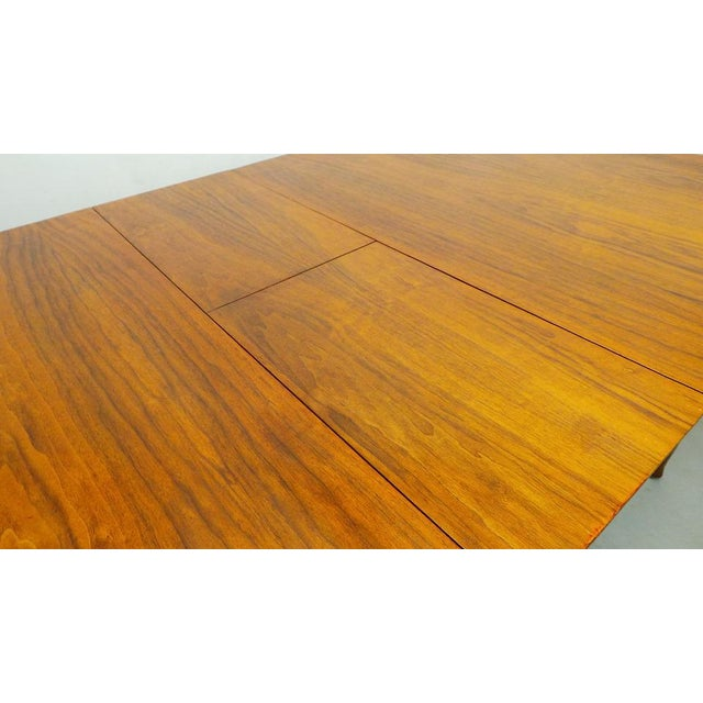 1960s Mid Century Modern Walnut & Rosewood Expanding Dining Table With Butterfly Leaf by Frank and Son For Sale - Image 5 of 8