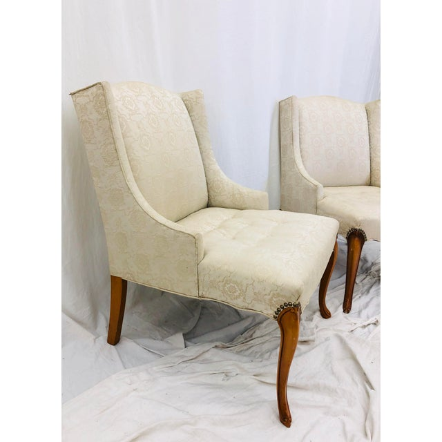 Mid 20th Century Pair Vintage French Style Side Chairs For Sale - Image 5 of 12