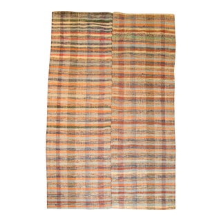 Vintage Turkish Rag Rug- 6'4'' x 10'3'' For Sale