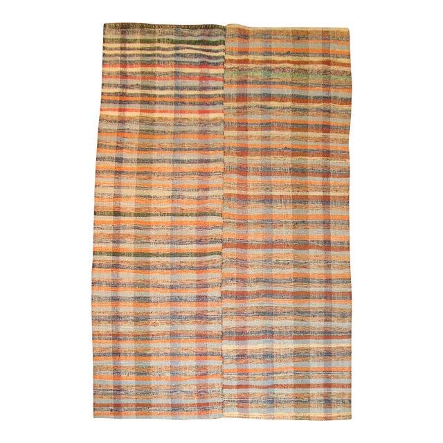 Vintage Turkish Rag Rug- 6'4'' x 10'3'' - Image 1 of 3
